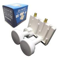 DI-WAY LNB MONOBLOCK TWIN 0,1dB 4,3st, WHITE LEOPARD LINE