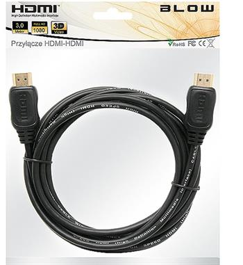 Kabel HDMI - HDMI 7m 1.4 ethernet AL/Mg , GOLD , z